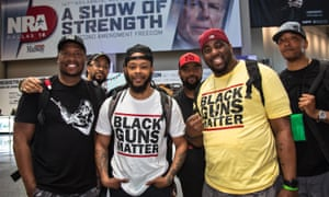 Members of Black Guns Matter attend the 147th annual NRA convention in Dallas.