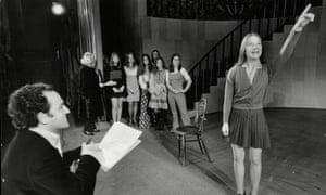 Children audition for Michael Tuchner in 1973.