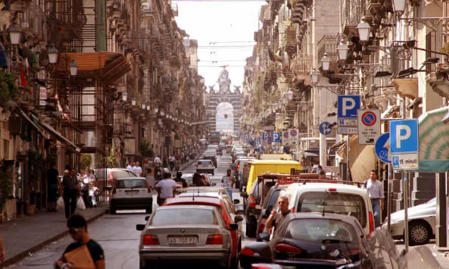 The city centre in Catania, Sicily