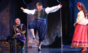 Roy Hudd, centre, in The Merry Widow at the Coliseum, London, in 2008.
