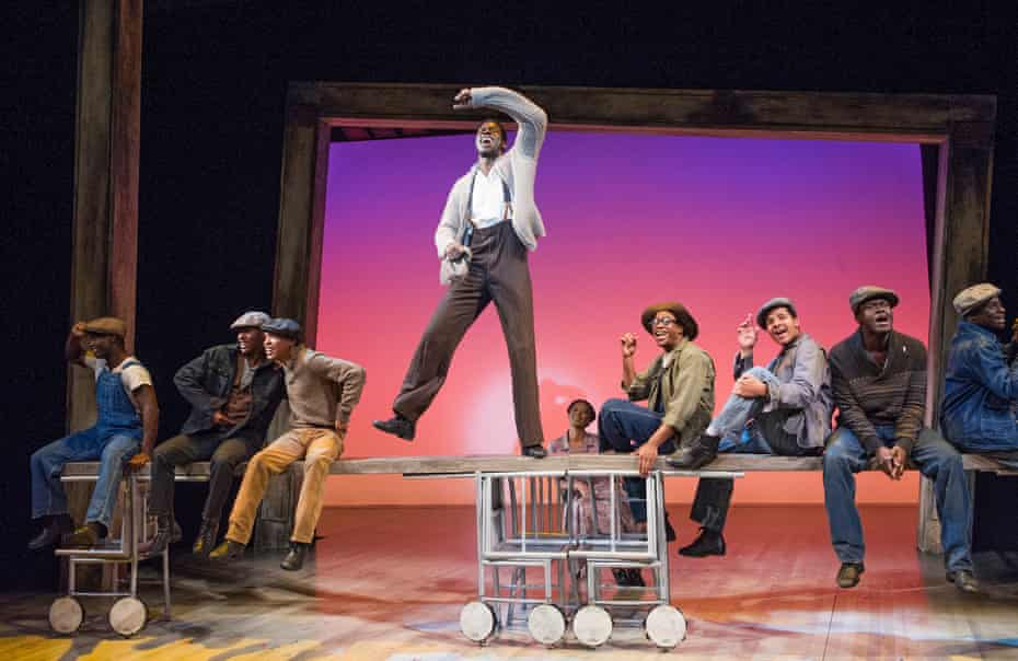 Kyle Scatliffe, centre, in The Scottsboro Boys at the Young Vic in 2013.