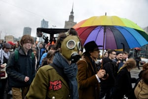 Polish students in Warsaw protest in a country that relies heavily on coal-powered energy. Warsaw