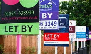 A row of 'to let' signs