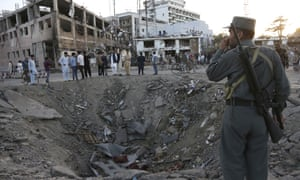 Site of explosion at German embassy in Kabul