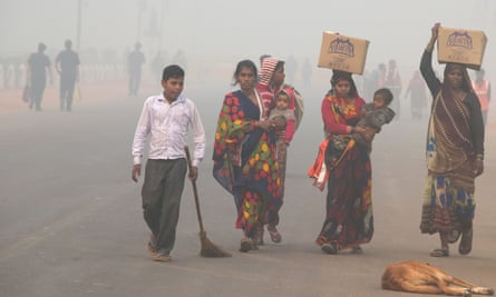 The air pollution is causing 'asthma-like symptoms' among Delhi's residents.