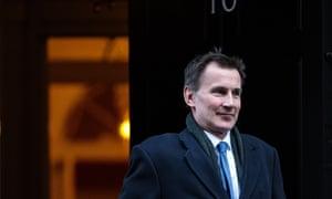 Jeremy Hunt leaving Number 10 after cabinet today.