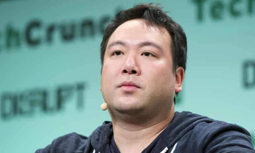 Deliveroo founder Will Shu at the TechCrunch Disrupt conference in London in 2015.