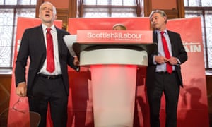 Jeremy Corbyn and Scottish Labour leader Richard Leonard in Glasgow