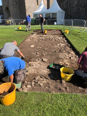 Archaeologists hope the findings in the trench could shed new light on 15th-century castle life.