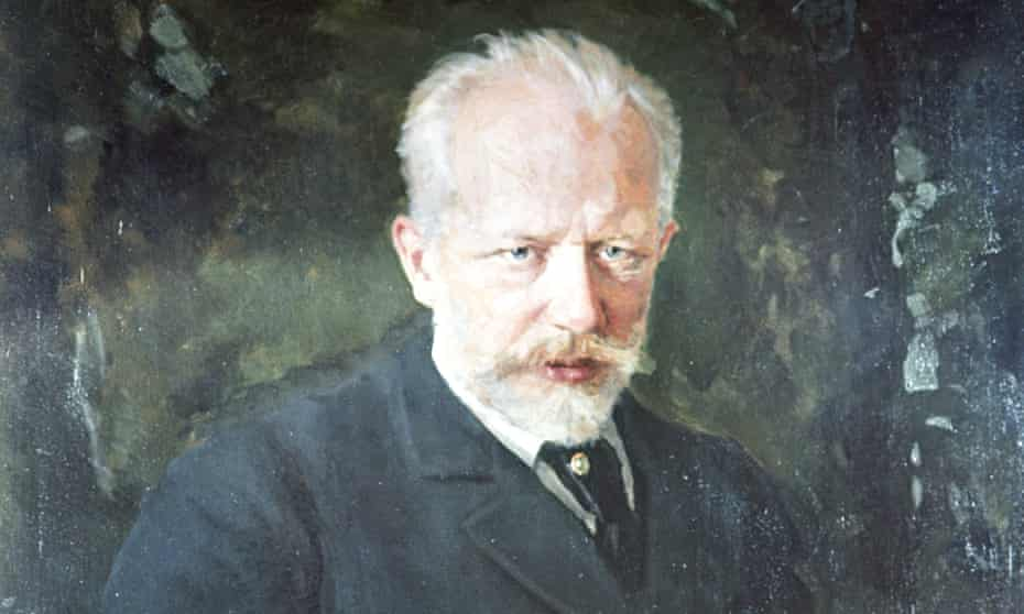 A detail from a reproduction of Tchaikovsky's Portrait 1893 by Kuznetsov
