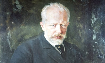 Reproduction of Tchaikovsky's Portrait 1893 by Kuznetsov from the collection of the Tretyakov State Gallery in Moscow