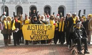 Demonstration re the Angola 3 Albert Woodfox