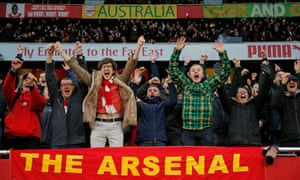Arsenal v Tottenham Hotspur: Arsenal fans react as they score in the second half