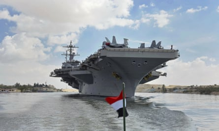 The USS Abraham Lincoln which has been dispatched to the Gulf.