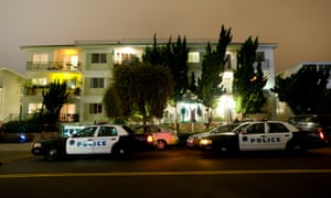 Police and FBI surround the apartment building in Santa Monica where fugitive crime boss James 'Whitey' Bulger and his longtime companion Catherine Greig were arrested in 2011.