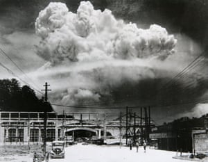 The bomb in Nagasaki on 9 August 1945.