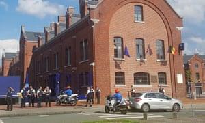 A security cordon around Boulevard Pierre Mainz