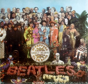 Album cover for Sgt Pepper's Lonely Hearts Club Band.