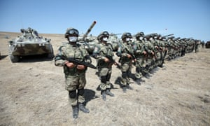 Turkish and local soldiers in joint exercises in  Azerbaijan Azerbaijan last month