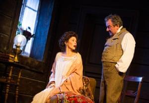 Anna Friel (Yelena) and Ken Stott (Vanya) in Uncle Vanya, Vaudeville, 2012