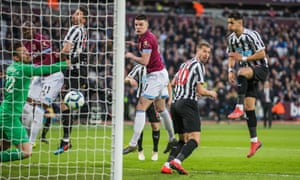 Declan Rice scores for West Ham v Newcastle