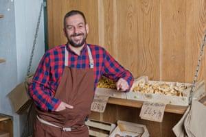 Mario Prati, director of Tartufaia, on his stall in Borough market