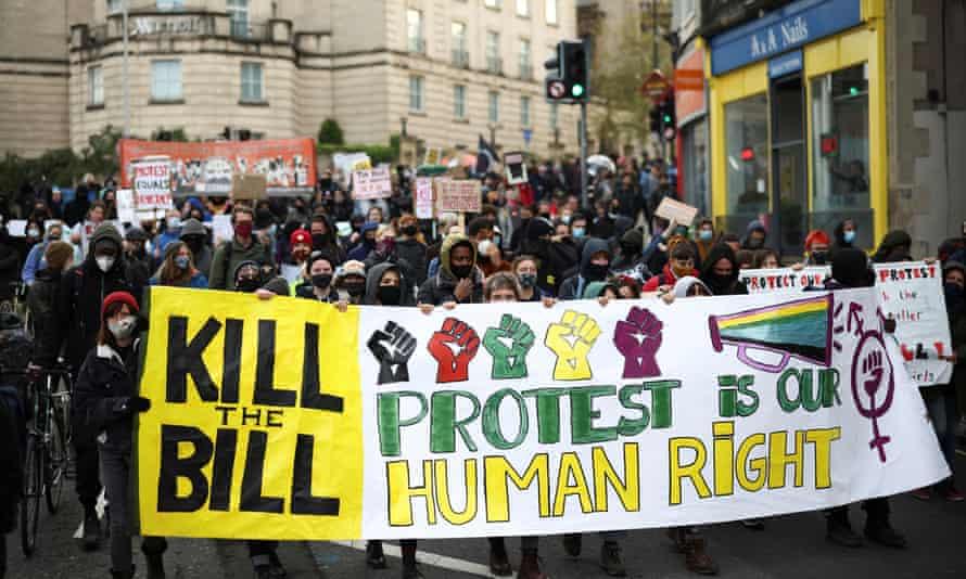 """""""Kill the Bill"""" protests in Bristol"""
