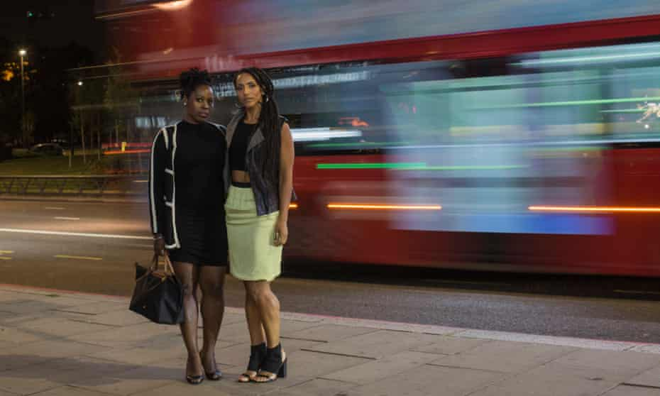 Afua Hirsch (right) with her friend Lola Adesioye on Park Lane.