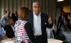 The Liberal Gilmore candidate, Warren Mundine, at a  candidates forum held at Nowra golf club