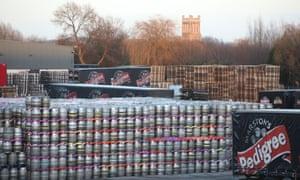 Marstons Pedigree barrels