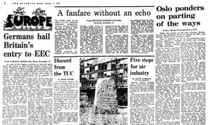 Guardian coverage, 1 January 1973.