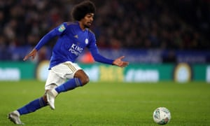 Leicester City v Aston Villa - Carabao Cup: Semi Final<br>LEICESTER, ENGLAND - JANUARY 08: Hamza Choudhury of Leicester City during the Carabao Cup Semi Final match between Leicester City and Aston Villa at The King Power Stadium on January 8, 2020 in Leicester, England. (Photo by Marc Atkins/Getty Images)