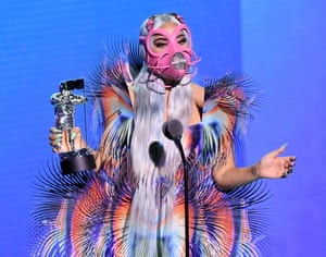 Lady Gaga picks up the award for Best Collaboration.