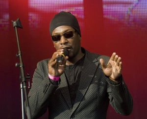 Roots Manuva live on Clapham Common, London, 2011.  Photograph: Ben Cawthra/REX Shutterstock