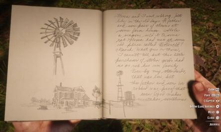 Arthur Morgan's notebook in Red Dead Redemption 2