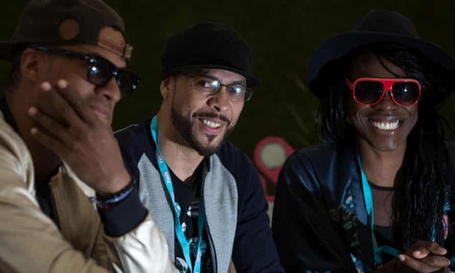 'Just the right amount of chefs' … Dynamite MC, Roni Size and Onallee in 2015.