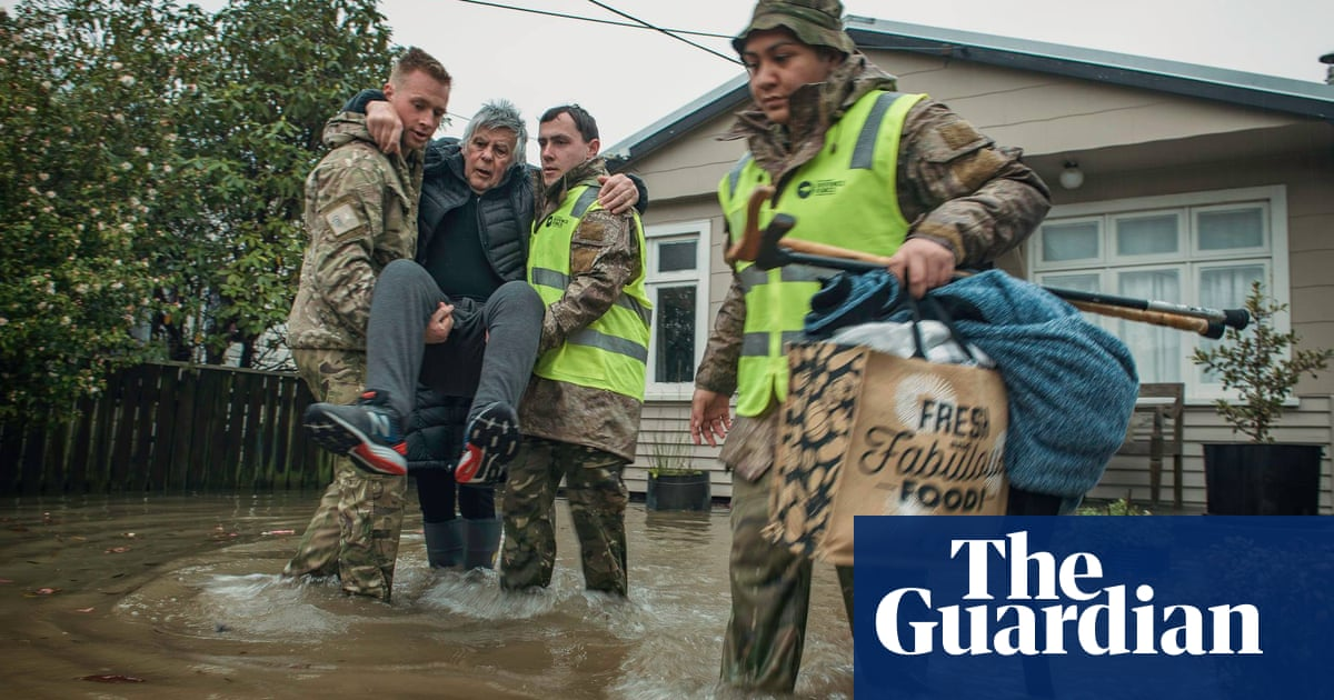 New Zealand west coast hit by heavy floods after month of rain falls in one weekend