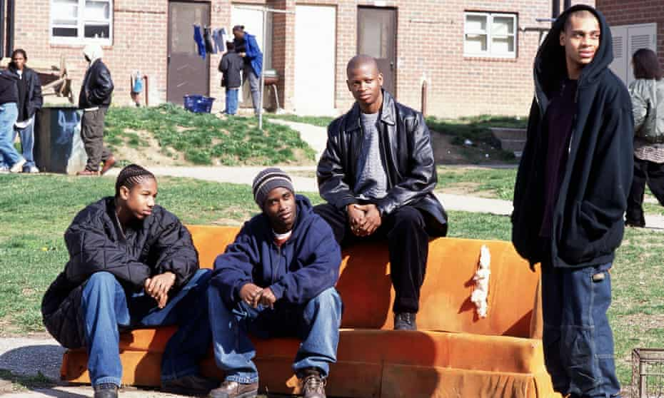 """To The Wire … (left to right) Wallace (Michael B Jordan), Malik """"Poot"""" Carr (Tray Chaney), D Angelo Barksdale (Larry Gilliard Jr) and Preston """"Bodie"""" Broadus (JD Williams)"""