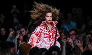 Moscow, RussiaA model wears a creation by Russian designer Alexandr Rogov during the Mercedes-Benz Fashion Week.