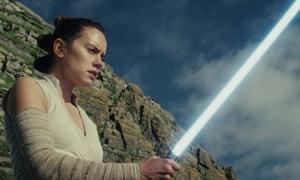 Daisy Ridley as Rey in Star Wars: The Last Jedi.