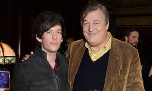 Elliot Spencer and Stephen Fry in London.