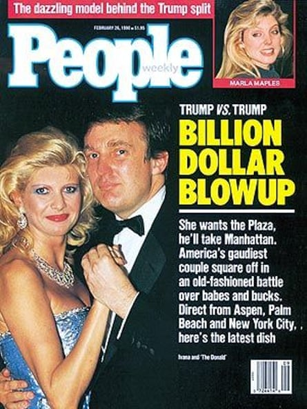 People weekly covered the news of Donald Trump's divorce in