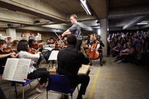 The Multi-Story Orchestra in action.