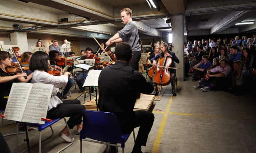 A different concert experience... the Multi-Story Orchestra perform in a former car park in Peckham Rye, one of last year's BBC Proms.