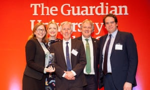 """The Business partnership award went to The Open University. The Open University Business School wanted to deepen its relationship with its 25,000 MBA alumni and build better corporate partnerships. To do so, it asked alumni to partner with the university to create """"centres of excellence"""" – that combine rigorous research with free online learning and resources in critical, yet under researched areas. The result was the The True Potential Centre for the Public Understanding of Finance which helps address the growing personal debt crisis through enhancing personal financial literacy."""