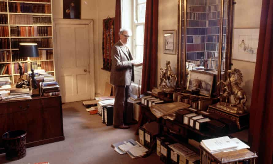 Hugh Trevor-Roper at home in Oxford in 1980.