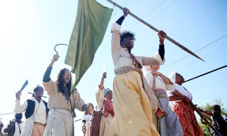 'It makes it real': hundreds march to re-enact 1811 Louisiana slave rebellion