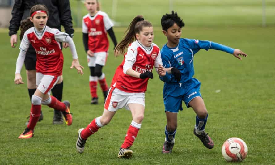 AC Finchley seemed unfazed to be facing girls. 'It is a normal game,' said one boy. 'I am not really going to pull out if a tackle because then we are going to lose.'