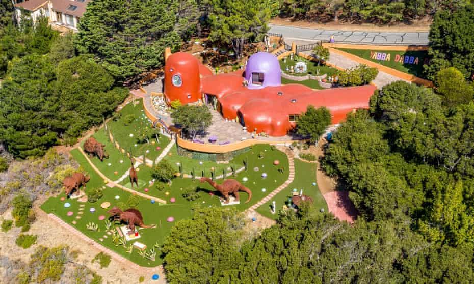 The Flintstone house in Hillsborough, California.