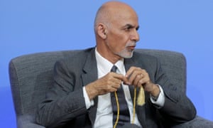 Afghan President Ashraf Ghani participates in a panel discussion